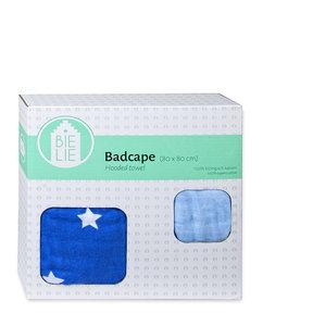 Badcape blauw